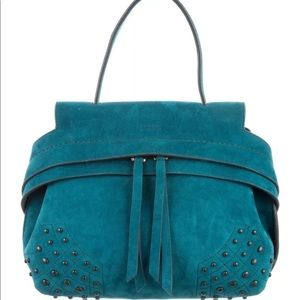 TOD'S Wave bag in teal suede - brand new